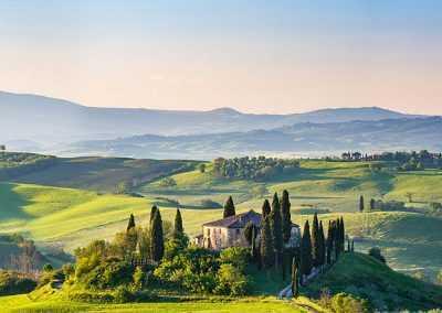 Panoramablick Toskana